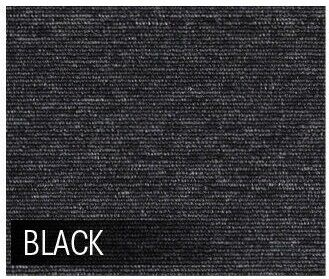 5m2 Box of Premium Carpet Tiles Commercial Domestic Office Heavy Use Flooring Black