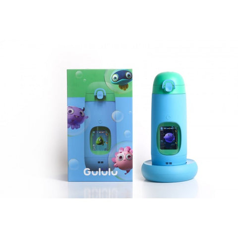 GULULU TALK THE INTERACTIVE SMART WATER BOTTLE & HEALTH TRACKER FOR KIDS BLUE