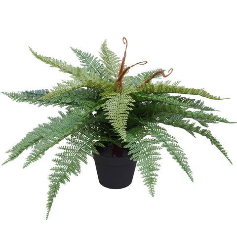 Artificial Potted Fishtail Fern 55cm