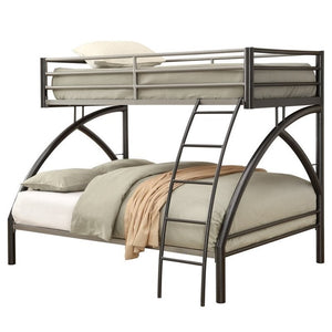 Coaster Twin over Full Bunk Bed in Gunmetal - Bunk Bed Central