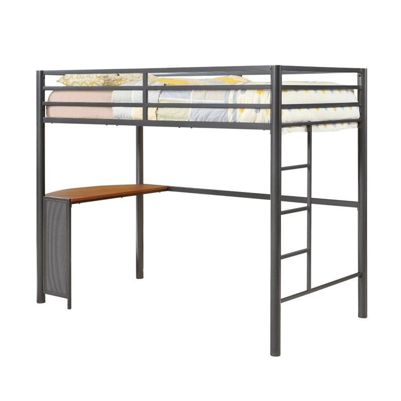 Coaster Twin Metal Loft Bed in Gunmetal - Bunk Bed Central