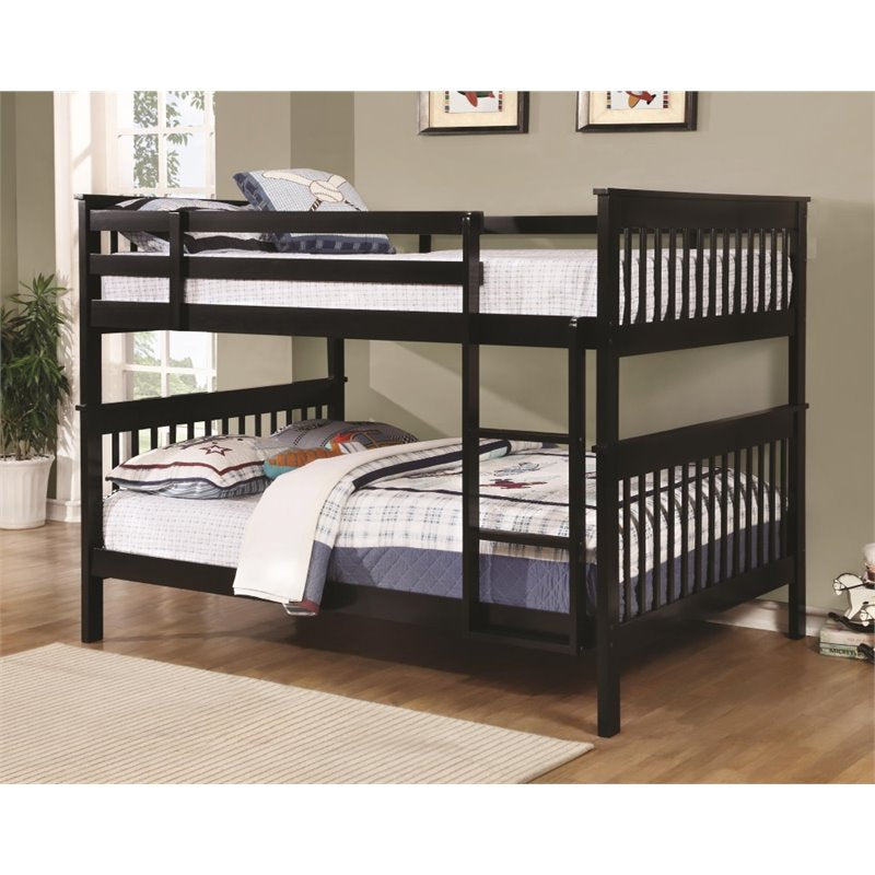 Coaster Full Over Full Bunk Bed in Black - Bunk Bed Central