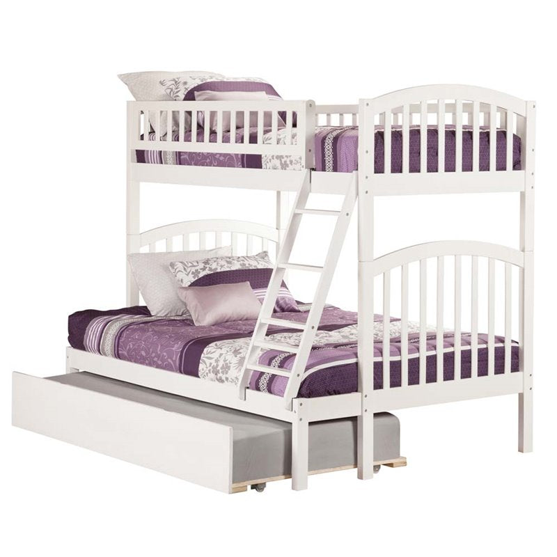 Atlantic Furniture Richland Urban Twin Over Full Trundle Bunk Bed - Bunk Bed Central
