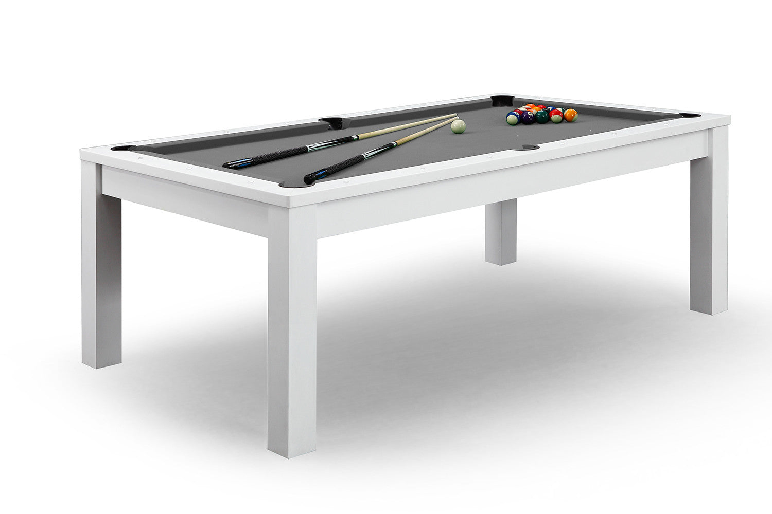 Billard convertible en table manger blanche billards defaistre - Billard transformable en table ...