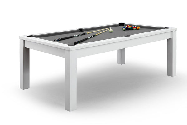 Billard convertible en table avec tapis gris