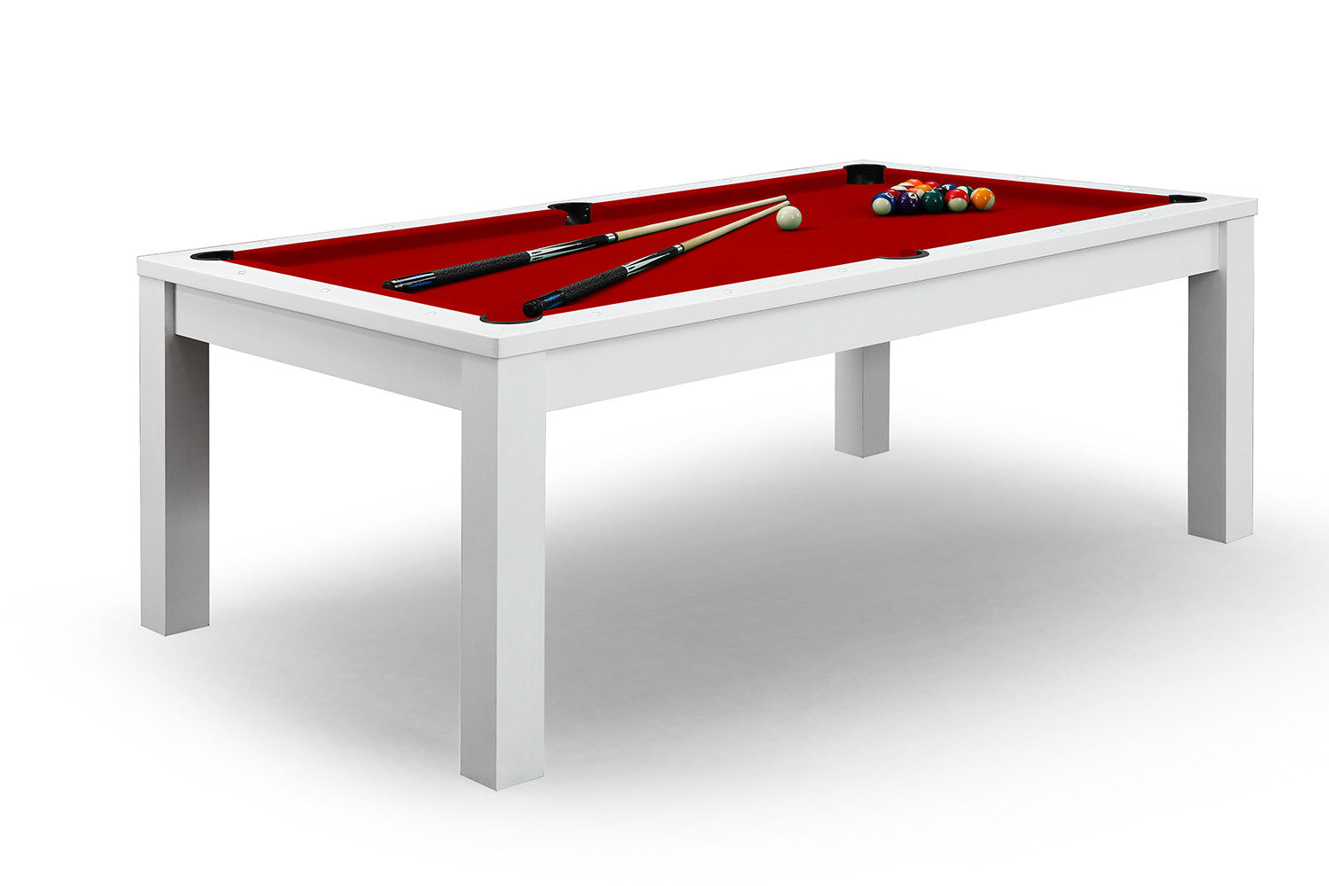 billard convertible en table manger blanche billards. Black Bedroom Furniture Sets. Home Design Ideas
