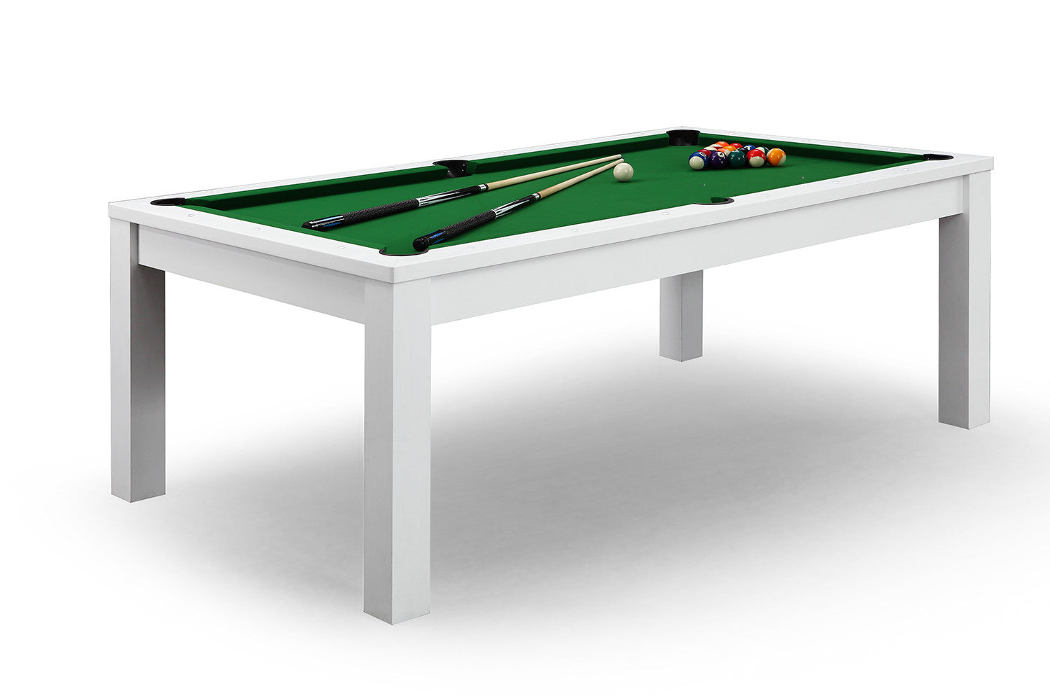 Billard convertible en table manger blanche billards - Table de billard convertible table a manger ...