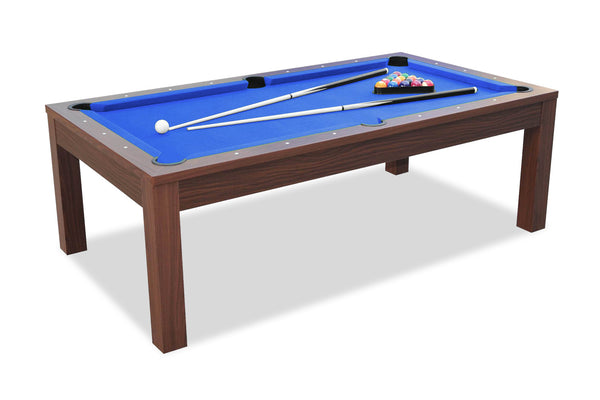 Billard convertible en table manger noyer billards for Table de salle a manger billard
