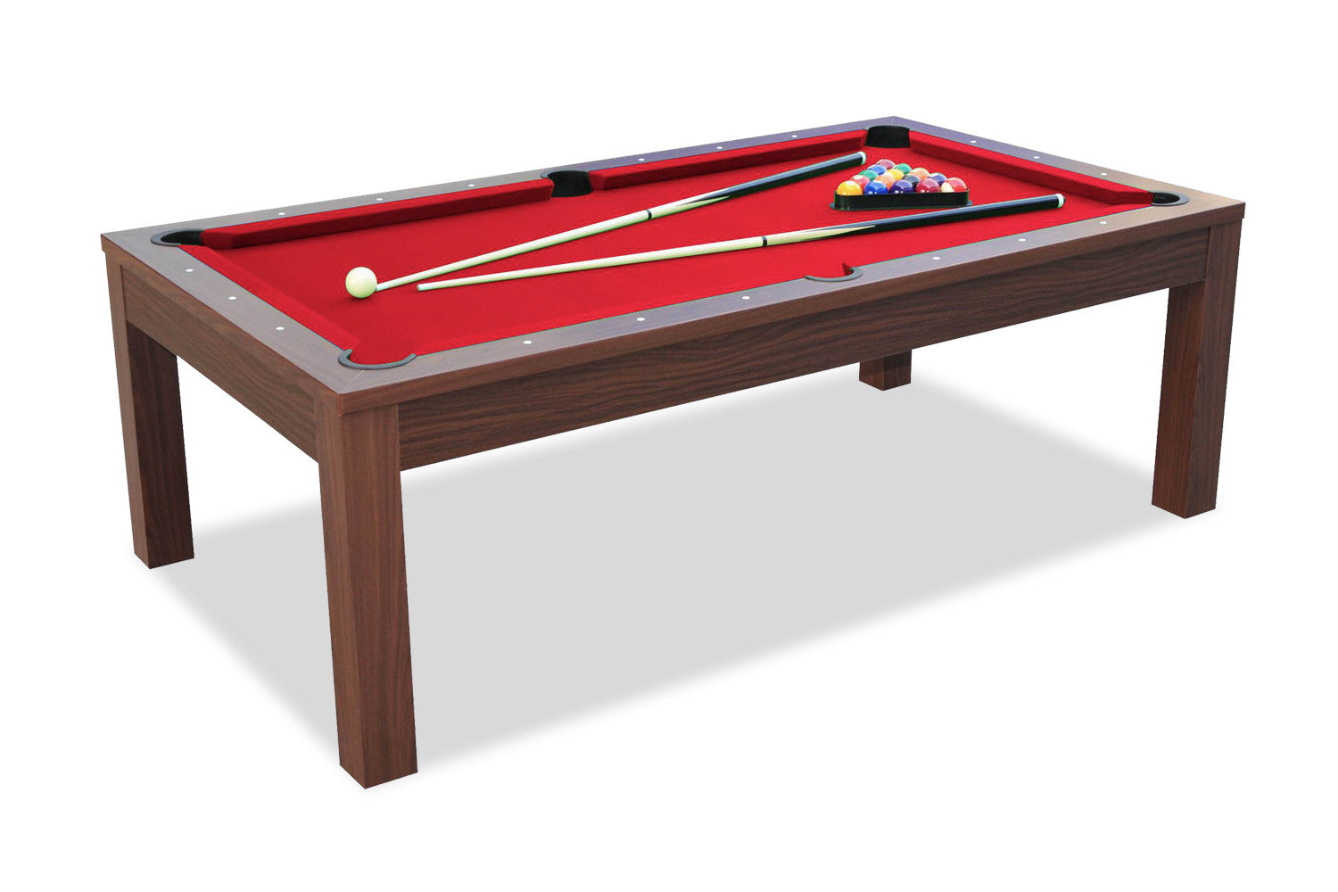 Billard convertible en table manger noyer billards for Table de salle a manger et billard