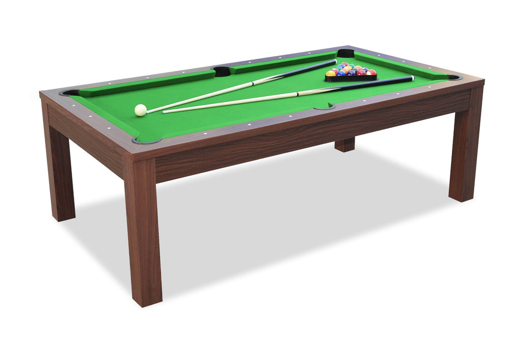Billard convertible en table manger noyer billards defaistre - Table de billard transformable ...