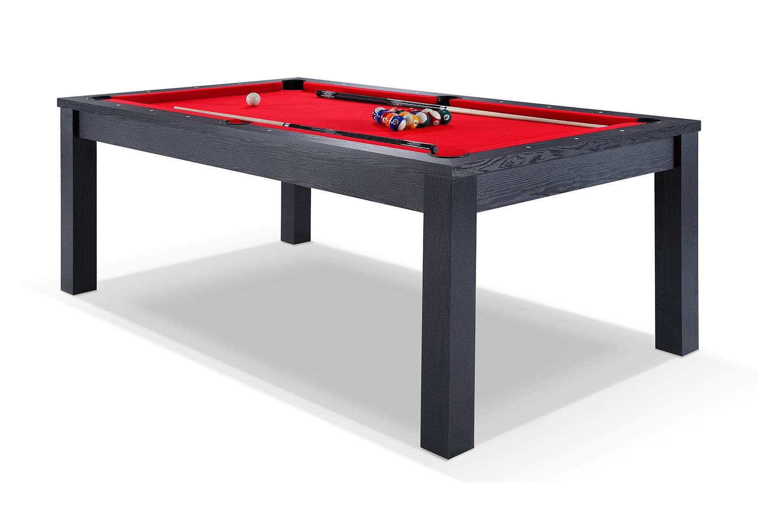 billard transformable en table manger noir billards. Black Bedroom Furniture Sets. Home Design Ideas