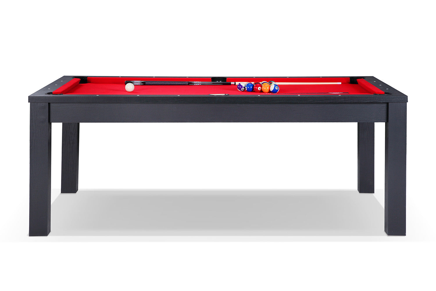 Billard transformable en table manger noir billards defaistre - Billard transformable ...