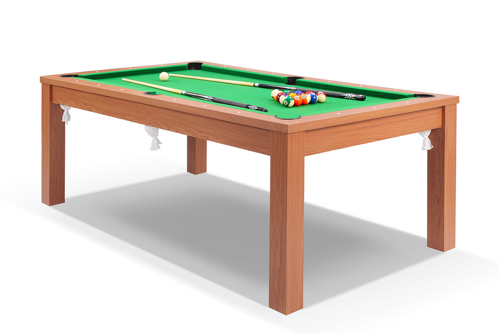 Billard Convertible En Table A Manger Merisier