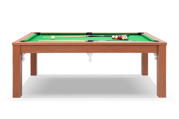 Billard convertible en table manger merisier billards for Table de salle a manger grande taille