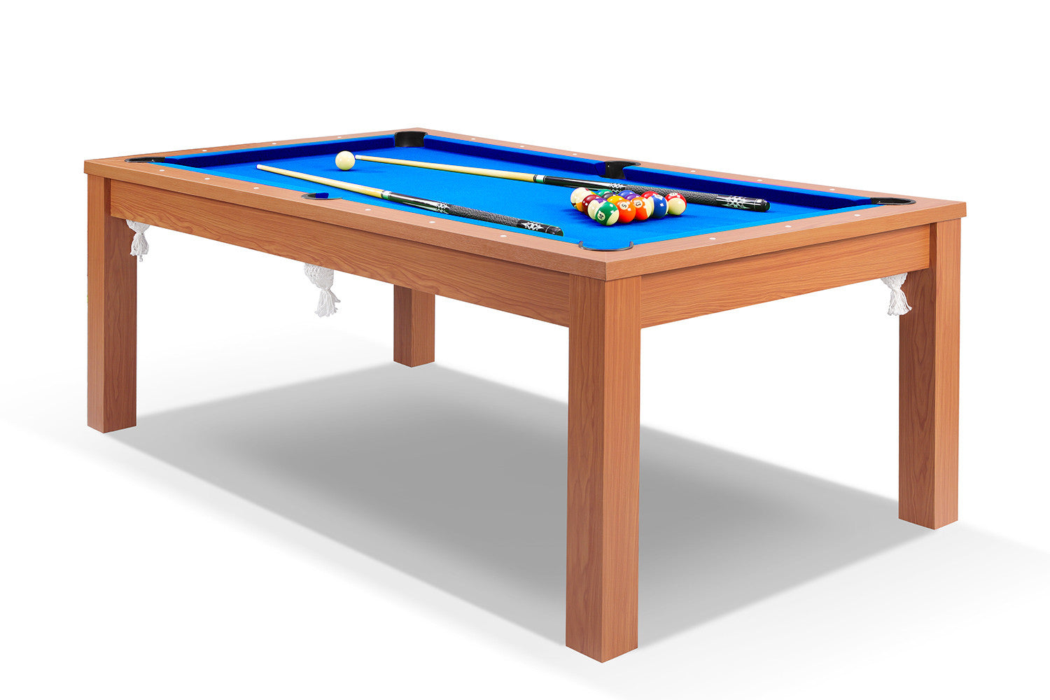 Billard convertible en table manger merisier billards for Billard salle a manger