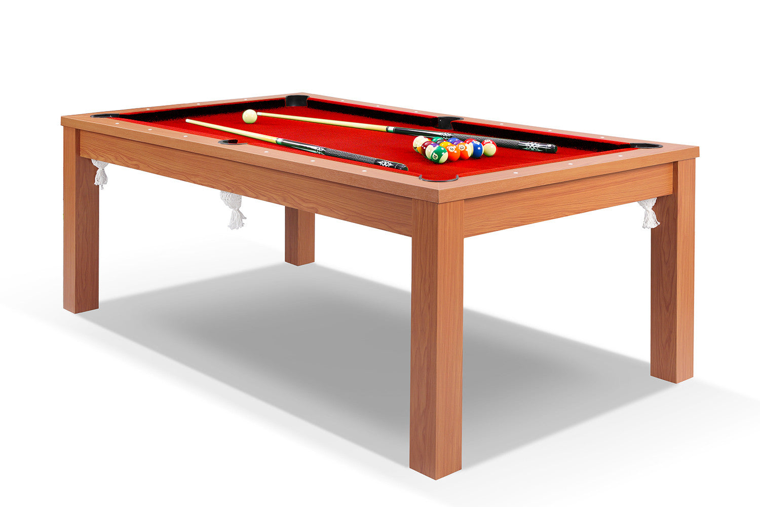 Billard convertible en table manger merisier billards for Table de salle a manger chez but