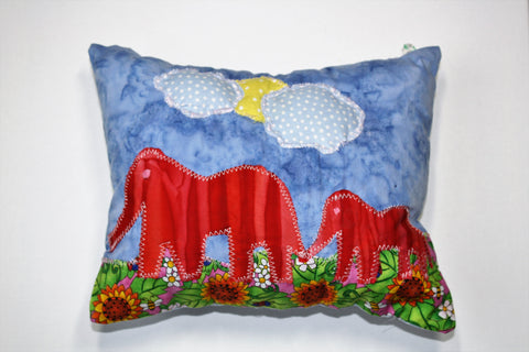 Elephant Family Pillow
