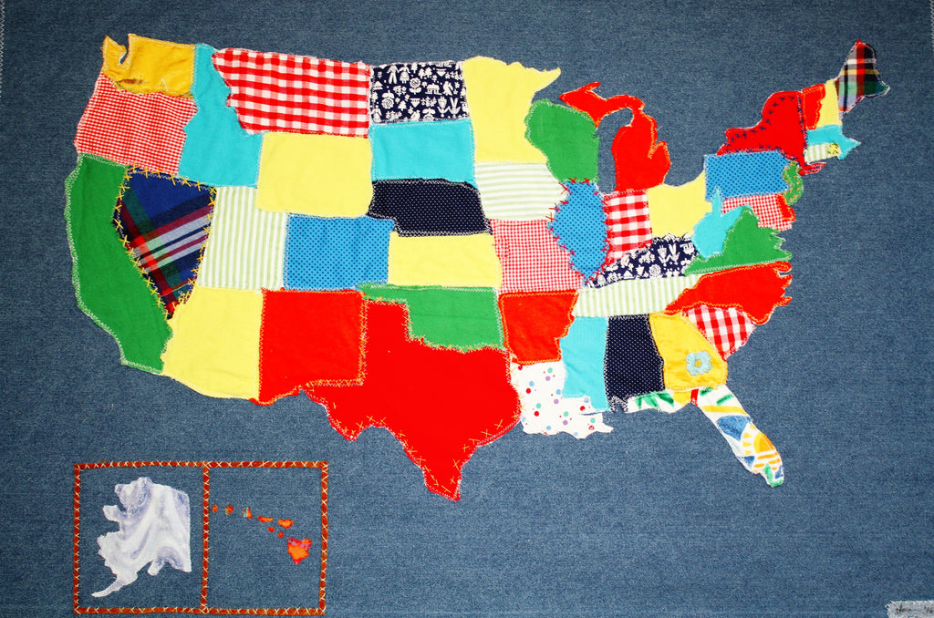 Handmade Map of the USA