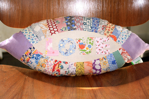 Patchwork Love Pillow