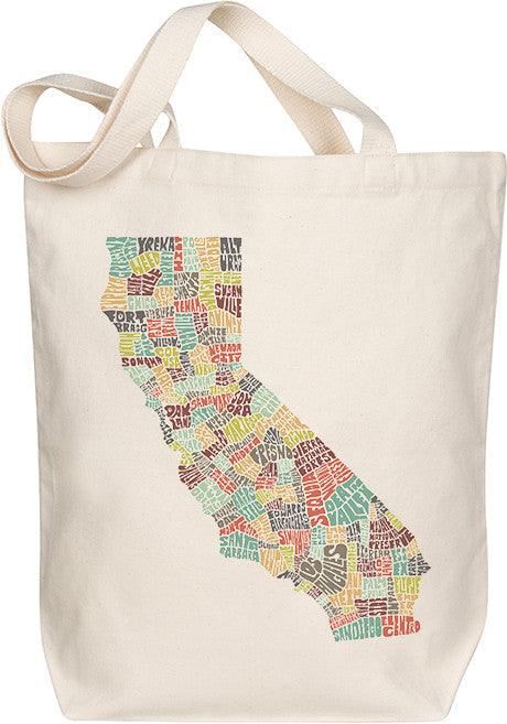 California Typography Tote - Multicolor