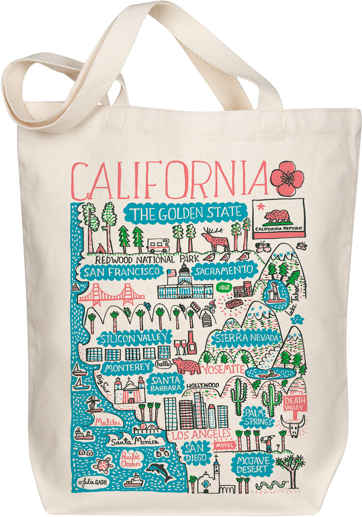 California Boutique Map Art Tote
