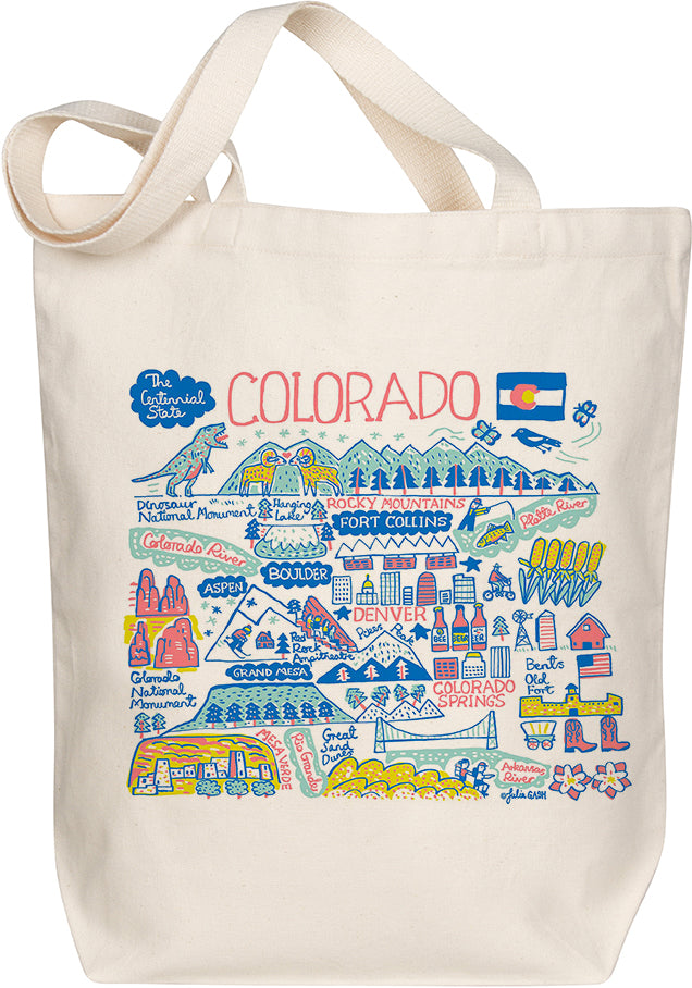 Colorado Boutique Map Art Tote