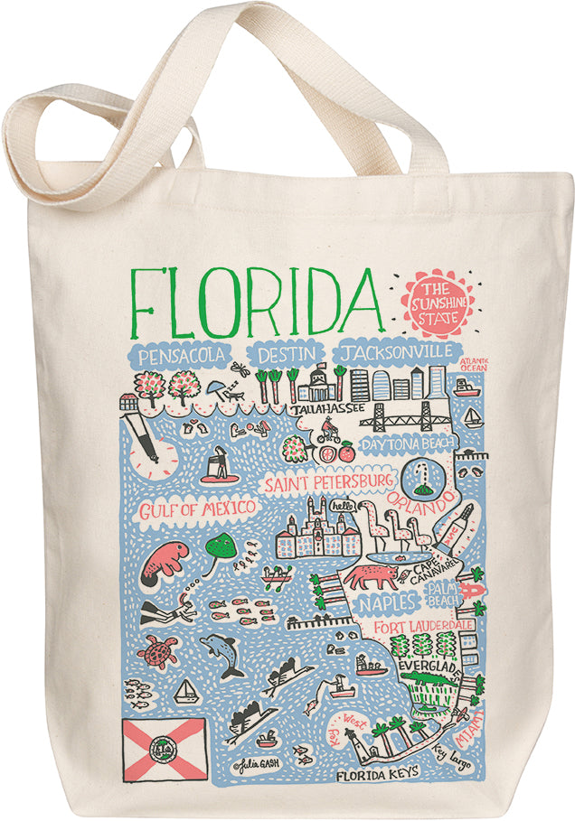 Florida Boutique Map Art Tote