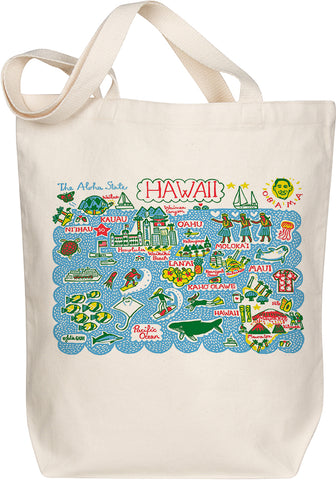 Hawaii Boutique Map Art Tote