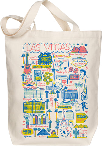 Las Vegas Boutique Map Art Tote