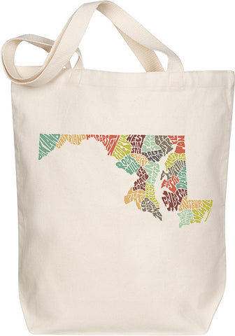 Maryland Typography Tote - Multicolor