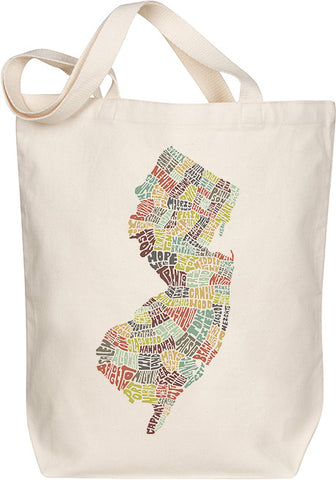 New Jersey Typography Tote - Multicolor