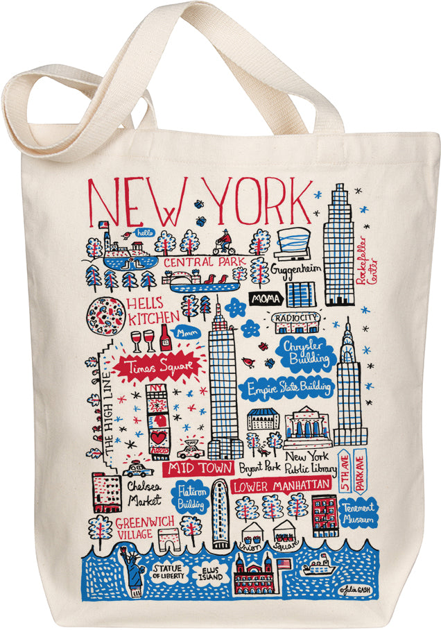 New York City Boutique Map Art Tote