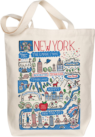 New York Boutique Map Art Tote