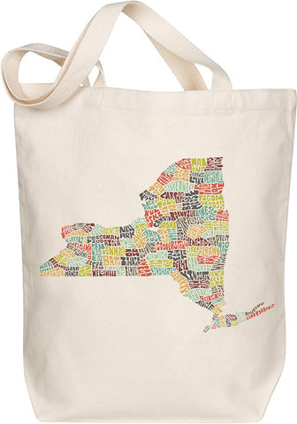 New York Typography Tote - Multicolor