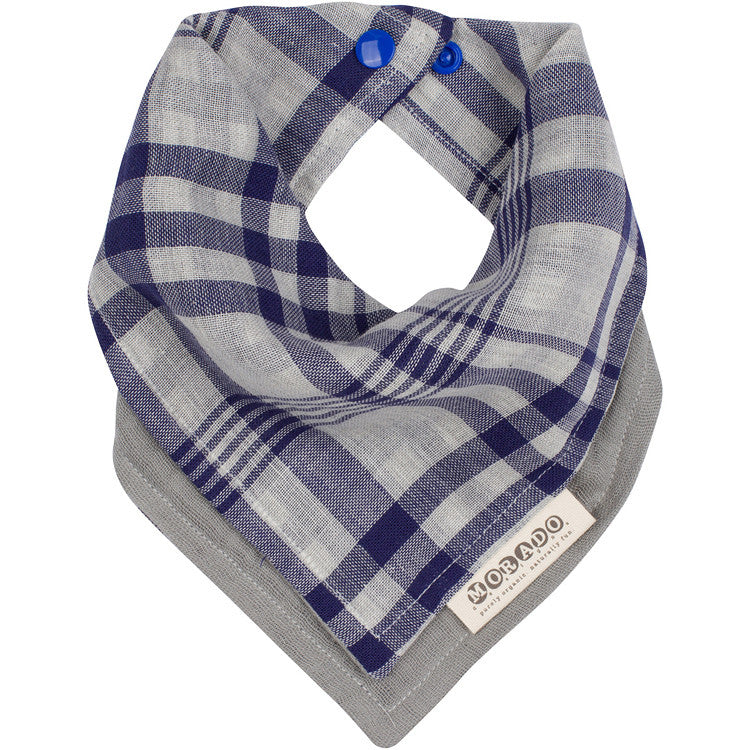 Reversible Plaid Bandana Bib