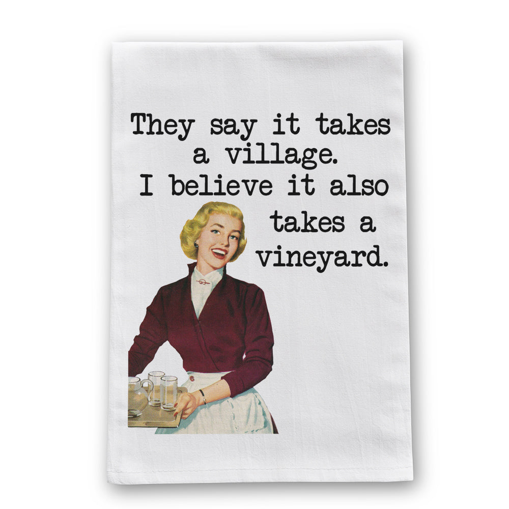 Vineyard Tea Towel