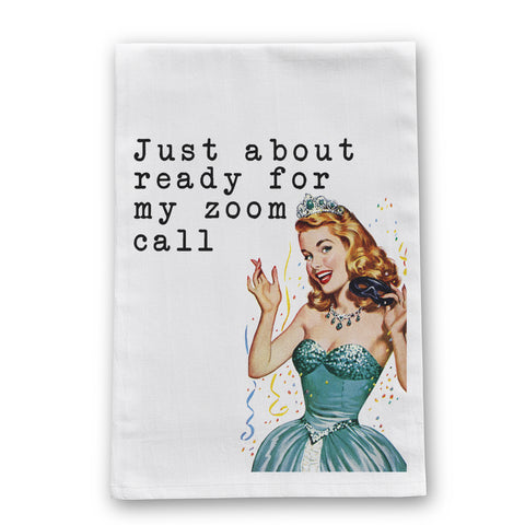 Zoom Call Tea Towel