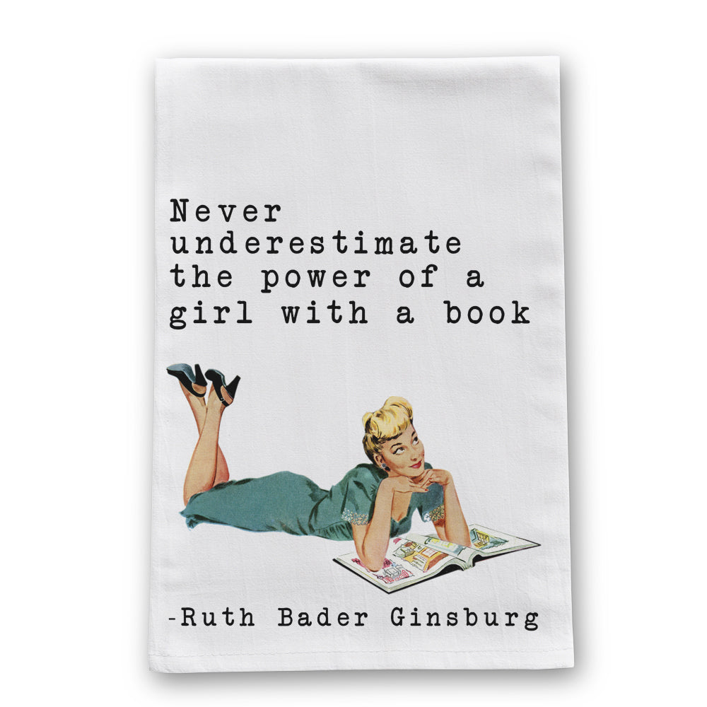 Girl with a Book Tea Towel