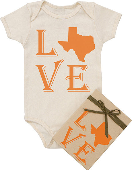 "State ""Love"" Bodysuit - Orange"