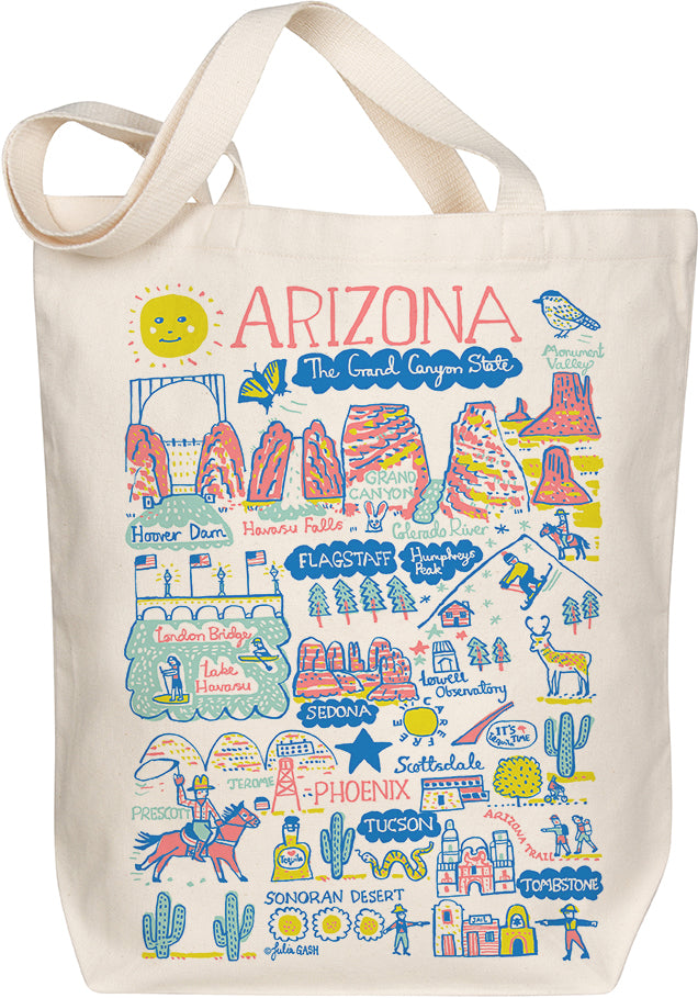 Arizona Boutique Map Art Tote