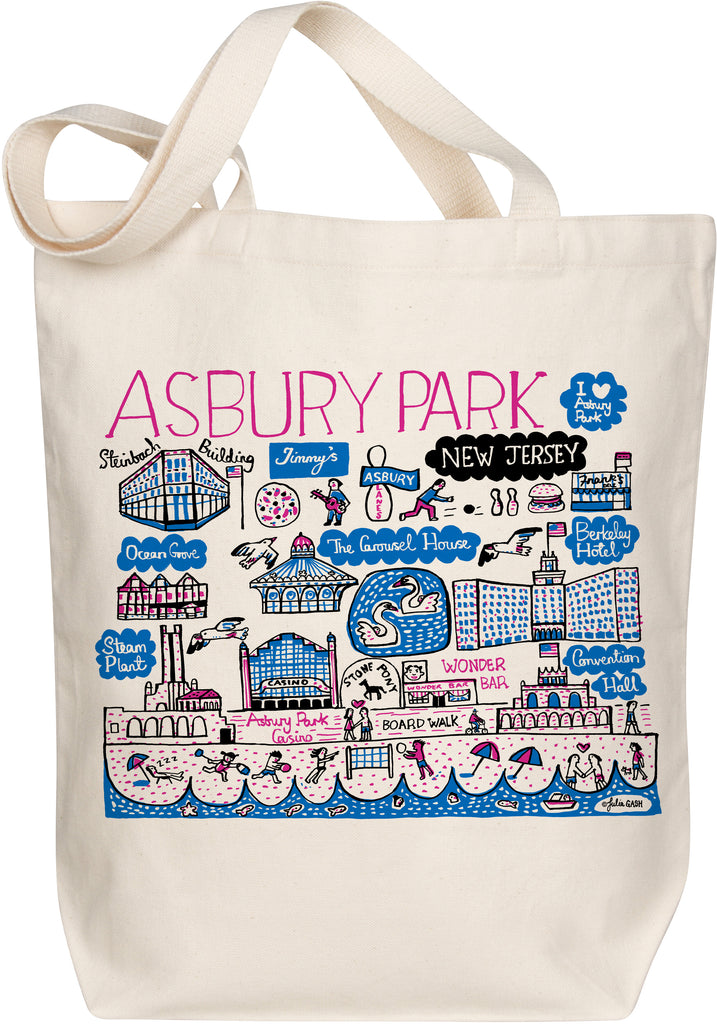Asbury Park Boutique Map Art Tote