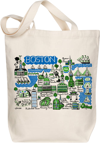 Boston Boutique Map Art Tote