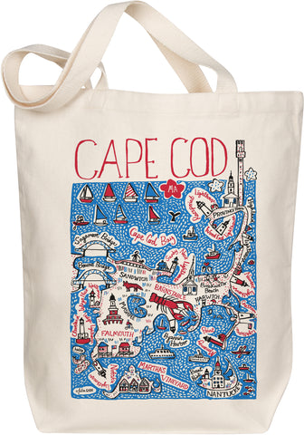 Cape Cod Boutique Map Art Tote