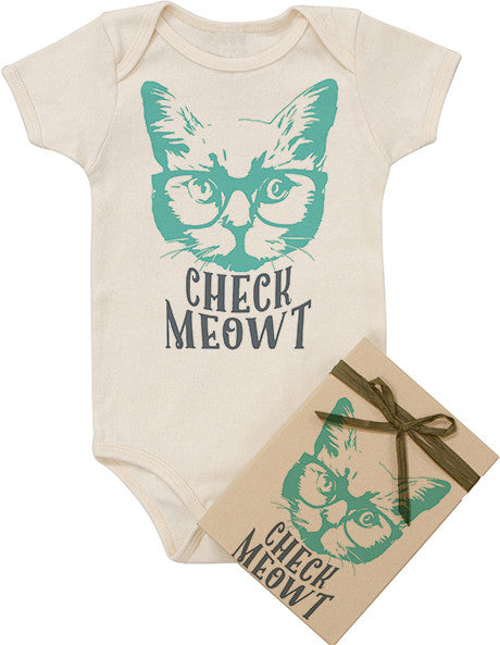 Check Meowt Bodysuit