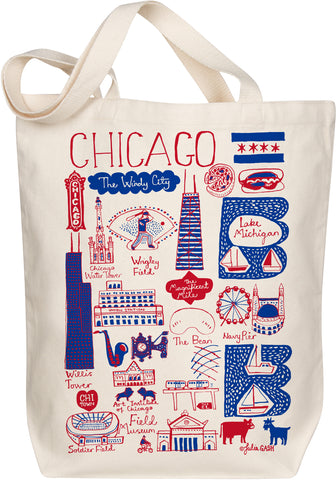 Chicago Boutique Map Art Tote