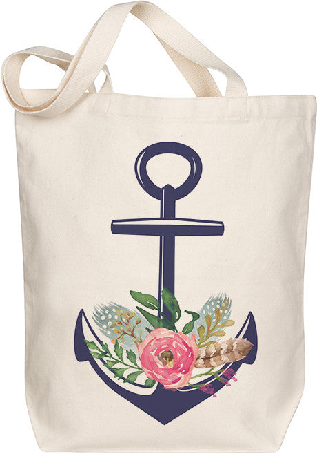 Floral Anchor Tote