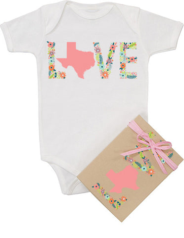 "Floral ""Love"" Texas Bodysuit"