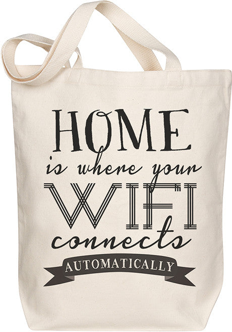 Home is Where Wifi Tote
