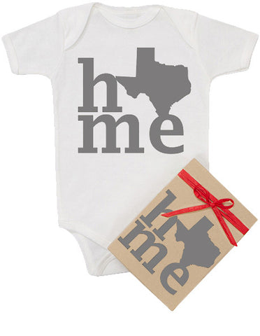 "State ""HOME"" Gray Bodysuit"