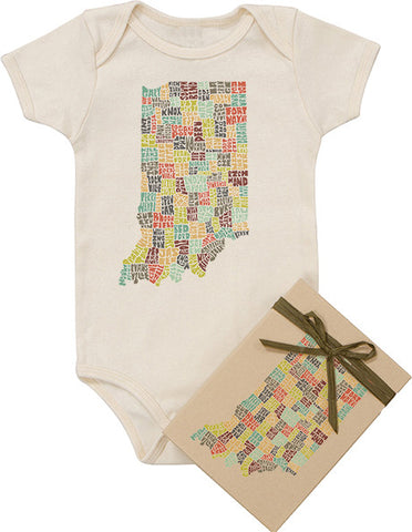 Indiana Typography Bodysuit - Multicolor